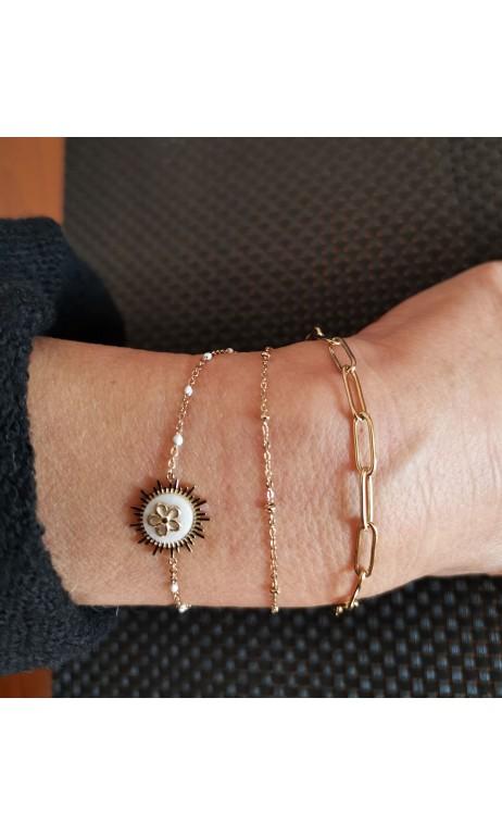 Bracelets trois rangs-...
